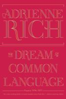 Dream of a common language : poems 1974-1977