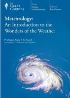 Meteorology an introduction to the wonders of the weather