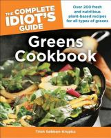 The complete idiot's guide to greens cookbook