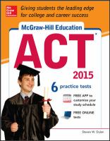 McGraw-Hill's ACT, 2013 Edition