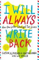 I will always write back : how one letter changed two lives