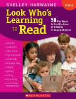 Look who's learning to read :   50 fun ways to instill a love of reading in young children