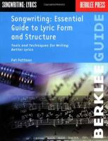 Songwriting : essential guide to lyric form and structure : tools and techniques for writing better lyrics