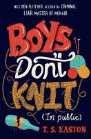 Boys don't knit : (in public)