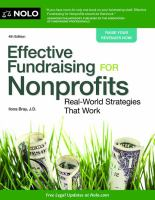 Effective fundraising for nonprofits : real-world strategies that work