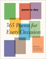 Poem-a-day : 365 poems for every occasion