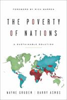 The poverty of nations : a sustainable solution