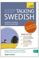 Keep talking Swedish : ten days to confidence : audio course