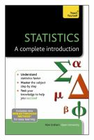 Statistics : a complete introduction