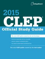 CLEP Official Study Guide 2015