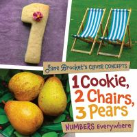 1 cookie, 2 chairs, 3 pears : numbers everywhere