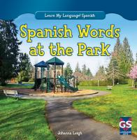 Spanish words at the park