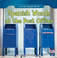 Spanish words at the post office