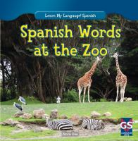 Spanish words at the zoo
