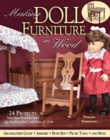 Making doll furniture in wood