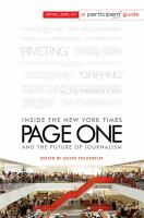 Page one : inside the New York Times and the future of journalism