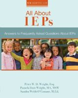 All about IEPs : answers to frequently asked questions about IEPs