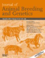 Journal of Animal Breeding and Genetics
