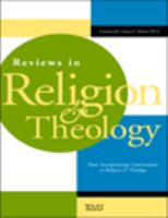 Reviews in Religion and Theology