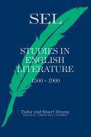 Studies in English Literature, 1500-1900