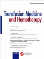 Transfusion Medicine and Hemotherapy