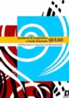 Quaderni Di Linguistica E Studi Orientali