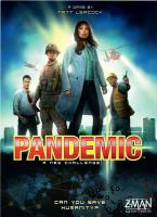 Pandemic In this game, players collaborate as members of a disease-fighting team combating four deadly diseases. The team travels around the world to stop the infection and develop resources for the cures. Players win by discovering cures.