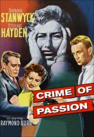 CRIME OF PASSION (DVD)
