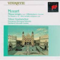 MOZART, W.A.: Missa Longa / Inter Natos Mulierum / Te Deum / Ave Verum Corpus ( Tölz Boys' Choir, European Baroque Soloists, Schmidt-Gaden)