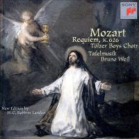 MOZART, W.A.: Requiem (arr. H.C.R. Landon) (Tölz Boys Choir, Tafelmusik Baroque Orchestra, Weil)