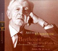 "BEETHOVEN, L. Van: Piano Concerto No. 5, ""Emperor"" / Piano Sonata No. 18, ""La Chasse"" (Rubinstein Collection, Vol. 79) (Rubinstein, Barenboim)"