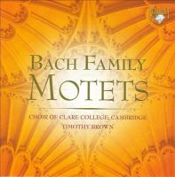 Choral Concert: Clare College Choir - BACH, J.S. / BACH, J. / BACH, J.M. / BACH, J.C. / BACH, J.L. (Bach Family Motets)