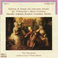 Cello Recital: Paternoster, Vito / Bosna, Pietro - MARCELLO, B. / SCIPRIANI, F. / PERGOLESI, G.B. / GEMINIANI, F. / MARTINO, F