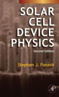Solar cell device physics cover