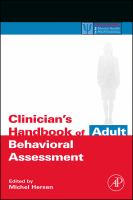Clinician's Handbook of Adult Behavioral Assessment