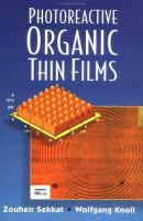 Photoreactive organic thin films [electronic resource] cover