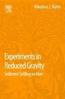 Experiments in Reduced Gravity : Sediment Settling on Mars cover