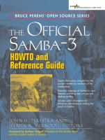 The Official Samba-3 HOWTO and Reference Guide