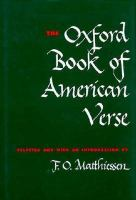 The Oxford Book of American Verse