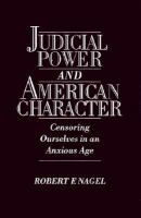 Judicial Power and American Character