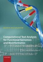 Computational Text Analysis for Functional Genomics and Bioinformatics