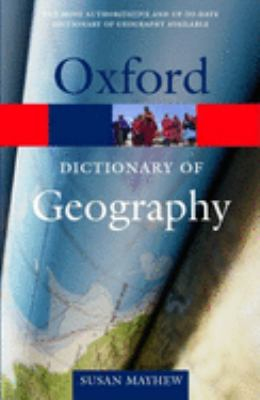 "Picture of book cover for ""A Dictionary of Geography"" by Oxford"