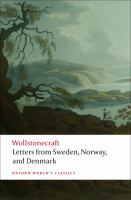 Letters written in Sweden, Norway, and Denmark (Oxford World's Classics)