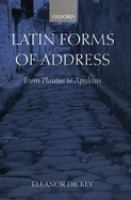 Latin Forms of Address