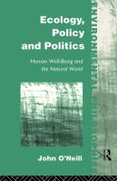 Ecology, Policy, and Politics
