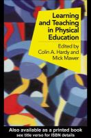 Learning and Teaching in Physical Education