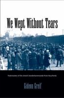 We Wept Without Tears