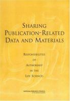Sharing Publication-related Data and Materials
