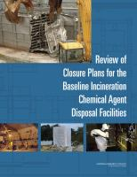 Review of Closure Plans for the Baseline Incineration Chemical Agent Disposal Facilities