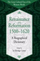 Renaissance and Reformation, 1500-1620